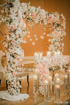 WedLuxe – A Gorgeous, Opulent Wedding with Blush Floral Abound | Follow @WedLuxe for more wedding inspiration!