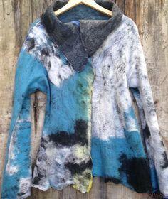 Nuno, silk www.fieltrounico.com.ar Textiles, Tie Dye, Tops, Women, Fashion, Textile Design, Felting, Jackets, Kleding