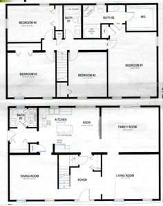 2 story polebarn house plans two story home plans house plans and more - Floor Plans For Houses