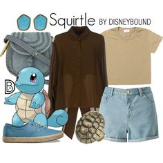Squirtle by leslieakay on Polyvore featuring French Connection, Miss Selfridge, Vans, Chloé, Diane Von Furstenberg and Pokemon
