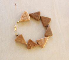 AHC Wood Marble Brass Bracelet