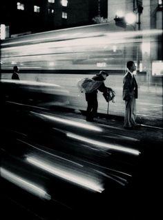 Eugene Smith :: Train Station, Japan, 1961 / more [+] by this photographer Motion Photography, Film Photography, Street Photography, Panning Photography, Time Lapse Photography, Tucson, Kansas, Arizona, Urbane Fotografie