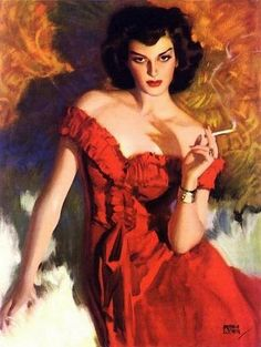 Andrew Loomis Vintage Pulp Art Illustration | Female-Centric Pulp Art | Sugary.Sweet | #Pulp #Art #Illustration