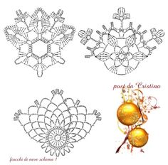 snowflakes crochet 112 schema 1