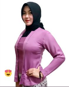 Beautiful Hijab Girl, Hijab Chic, Kebaya, Hijab Fashion, High Neck Dress, Ootd, Celebrities, Sexy, Beauty