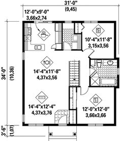 Cozy Two-Bedroom House Plan - 80632PM | 1st Floor Master Suite, CAD Available, Canadian, Cottage, Country, Metric, PDF, Traditional | Architectural Designs