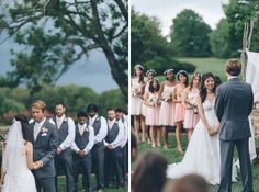 Wedding ceremony during a Evergreen Country Club Wedding in Northern Virginia. Captured by NYC wedding photographer Ben Lau.