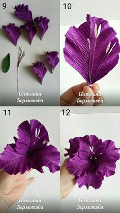 How do I make paper flowers?  How do you make paper flower decorations? Paper Flowers Craft, Tissue Paper Flowers, Felt Flowers, Flower Crafts, Diy Flowers, Fabric Flowers, Flowers With Paper, Crepe Paper Roses, Candy Flowers