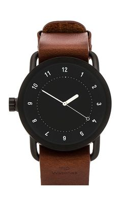 Shop for TID Watches No. 1 + Leather Wristband in Black & Tan at REVOLVE. Cool Watches, Watches For Men, Unique Watches, Der Gentleman, Leather Wristbands, Watch Faces, Beautiful Watches, Luxury Watches, Fashion Accessories