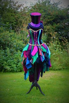 Full Mad Hatter Costume. Custom made fancy dress by Faerie In The Foxglove - We offer our customers the chance to purchase high quality products for low affordable prices! Such as bespoke clothing pieces, trinkets and customisable phone cases. Check them out now!