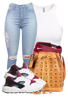 """""""It's the last day of Summer you Guys!"""" by bria-queen-ovoxo ❤ liked on Polyvore featuring H&M, NIKE and MCM"""