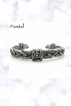 Norse Viking Arm Ring Fenrir Wolf Head Cuff Bangle Bracelet