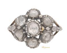 Georgian rose cut diamond cluster ring, circa 1800 | Berganza