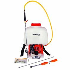 Hudson 18537 6.5 Gallon 1 HP 2 Stroke Gas Powered Professional Bak-Pak Power Sprayer by Hudson. $299.99. Large mouth fill opening prevents spills. Large 1 HP engine. Non-CARB Compliant/Not For Sale In California. Translucent Tank. Provides portable, high-efficiency for agricultural or pest control applications. For home, lawn and garden rely on Hudson sprayers to protect against insects, weeds and plant diseases. We also make life easier with sprayers for wood deck maintenan...
