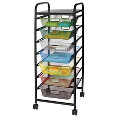 Realspace® 7-Drawer Mobile Organizer 35 7/16  H  x 14 3/4  x 13 3/5  Multicolor  sc 1 st  Pinterest & Really Useful Box® Plastic Storage Box 6.5 Liters 17 1/2
