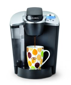 Keurig Brewer (this is the one I have; I leant it to a friend who gave me the red bags and I can get it back and use it with a plug converter) - but Keurig coffee cups would be good!