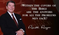 Ronald Reagan quote about the Holy Bible.