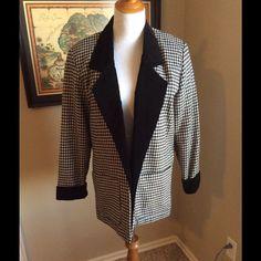 Bf Vintage Glenora Women'S Houndstooth Blazer