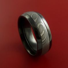 damascus ring blue | ceramic ring durable custom made ring $ 98 92 damascus steel 14k ...
