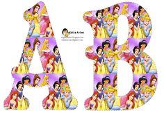 Alfabeto Bellas Princesas Disney.