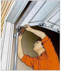 Garage door repair DIY tips. Save money by tuning-up your own garage door. Extend the life of your garage door by doing some basic maintenance. Garage Door Insulation, Garage Door Repair, Garage Door Opener, Garage Doors, Barn Doors, Garage Shop, Garage House, Diy Garage, Garage Epoxy
