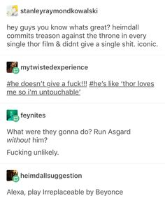 Heimdall, the true ruler of Asgard