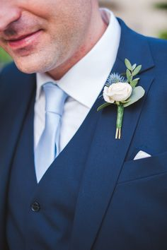 #boutonniere  Photography: Marion Heurteboust - www.marionhphotography.com/  Read More: http://www.stylemepretty.com/2014/11/19/romantic-villa-wedding-in-provence/