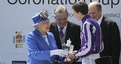 Victorious: Queen Elizabeth II presents a trophy to Joseph O'Brien who won the Epsom Derby on Camelot