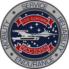 USS Elokomin Ship's Insignia by viperaviator on DeviantArt Star Trek Emblem, Star Trek Logo, Star Trek 1, Star Trek Ships, Star Trek Insignia, Star Trek Uniforms, Starfleet Ships, Star Trek Images, Nasa Missions