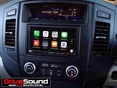 Mitsubishi Pajero with Apple CarPlay installed by DriveSound. Mitsubishi Pajero, Android Auto, Ford Falcon, Car Audio, Brisbane, 4x4, Apple, Vehicles, Awesome