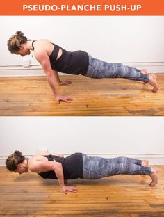 Pseudo-Planche Push-Up  www.fuelyourlifeliveyourdreams.com
