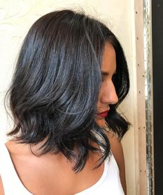 Gorgeous simple dark brunette Aveda Color with long layered cut by Aveda Artist Cathy at Loja Salonspa. Formula: Regrowth- FS 40g 3n, 2g DYO, 2g DBC, 40g 10 vol.  Mids/ends- Demi 30g 2n 10g ON, 1G Y0, 1g DYO, 1g DRR, 40g Creme Activator
