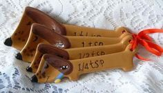 Dachshund Measuring Spoons - Dachshund Rescue of North America - Doxie Store @Erin Wright