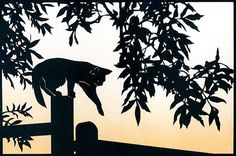 Hey, I found this really awesome Etsy listing at https://www.etsy.com/listing/67563693/homeward-bound-hand-cut-papercut-cat