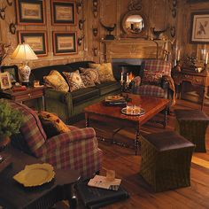 Traditional cabin - traditional - Family Room - Other Metro - Tracie B