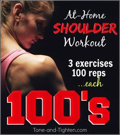 Sculpt your best shoulder ever with this amazing at-home workout from Tone-and-Tighten.com! #workout #fitness