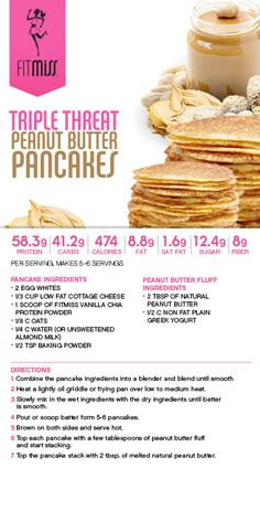 Triple Threat Peanut Butter Pancakes featuring Vanilla Chai Delight!  #FitMiss Purchase Delight HERE: http://www.fitmiss.com/store
