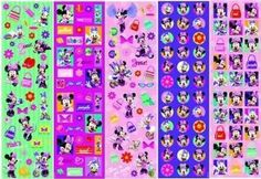 Minnie Mouse 350 stickers by AMSCAN *. $4.24. 350 per package.. Kids Birthday Stickers. Minnie Mouse 350 stickers