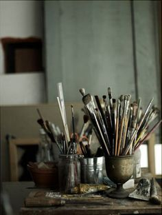 paintbrushes.