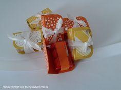 Mini-TicTac-Verpackkung - gelb und orange