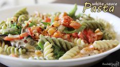 white sauce pasta or pasta cooked in white sauce : step by step easy recipe to make white sauce pasta. It is ideal for kids lunch box or tiffin.