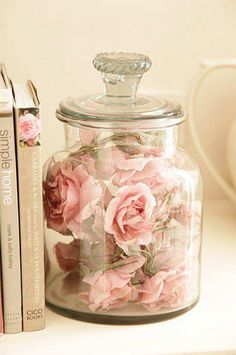 I had a glass display very similar to this. the same florals sealed inside it.