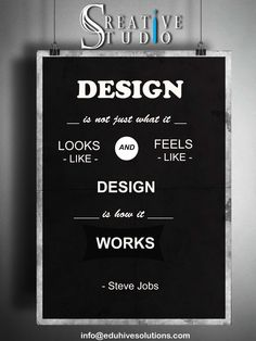 Design is how it works...... #design #work