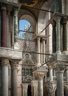 St. Mark's Basilica by archipirata  Architectural detail of the southwest corner of St. Mark's Basilica, Venice, Italy.
