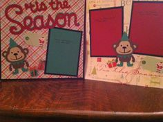 Tis the Season with Elf Monkies Pre Made 12 x by aSavvyScrapbooker, $12.00