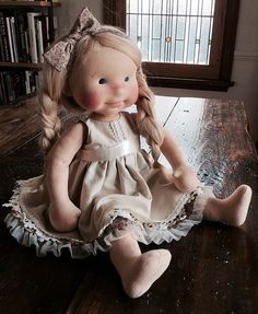 Scout as a blonde-natural fiber doll by Mon Petit Frère | Flickr - Photo Sharing!