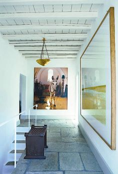 Thaddaeus Ropac's home on Hydra, photo by Alexia Silvagni for T magazine
