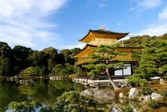 Kinkakuji (Golden Pavilion Temple) is a World Heritage site and one of Kyoto's most famous attractions.    Tokyo, Japan