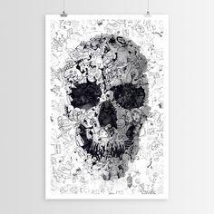 Kingdom Skull | Ali Gulec Art Poster | WallsNeedLove