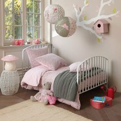 Image uploaded by Sumicca. Find images and videos about baby, bedroom and kids room on We Heart It - the app to get lost in what you love. Pink Bedroom For Girls, Baby Bedroom, Little Girl Rooms, Trendy Bedroom, Princess Room, Kid Spaces, Home Design, Room Inspiration, Kids Room
